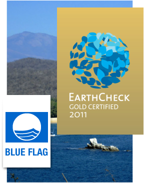 Earth Check Gold Certified and Blue Flag Certified real estate in Huatulco.